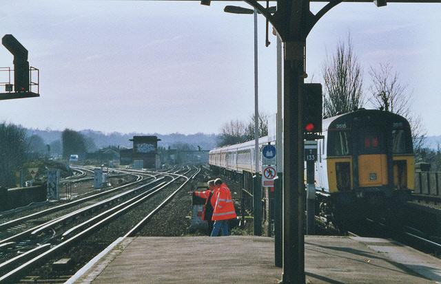 South end of South Croydon station