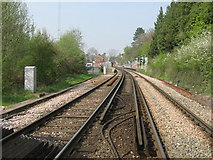 TQ5359 : Railway to Otford Station by David Anstiss