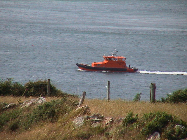 Lifeboat off Porthwen