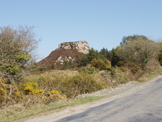 Outcrop on Forth Mountain