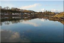 NG8033 : Evening high tide at Plockton by Roger Davies