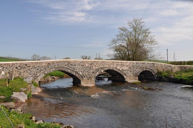 Bridge over the Gwendraeth Fach south east of Llandyfaelog
