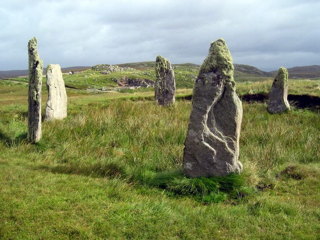 Stone Circle at Ceann Hulavig (Callanish IV)