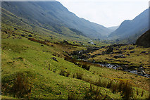 NY2114 : Gatescarthdale Beck and the Honister Pass by Ian Greig