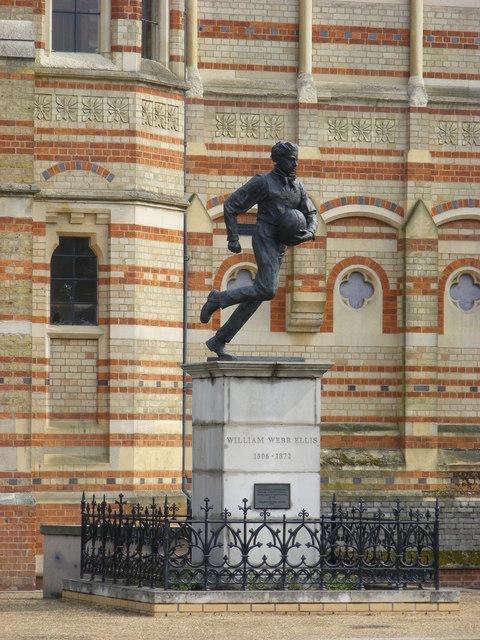 Statue to William Webb Ellis