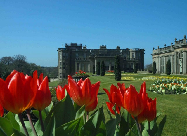 Lyme Hall in springtime