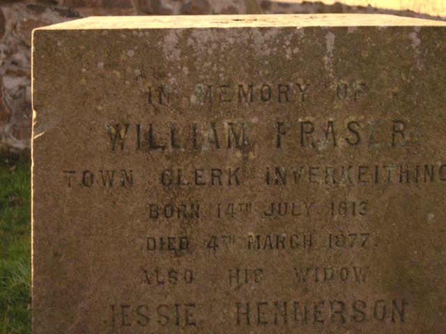 Gravestone of William Fraser