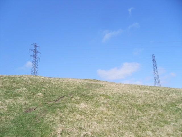 Pylons crossing Cochno Hill