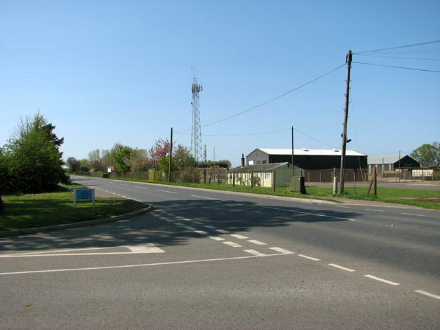 A1122 past disused airfield