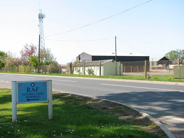 The disused Bexwell airfield