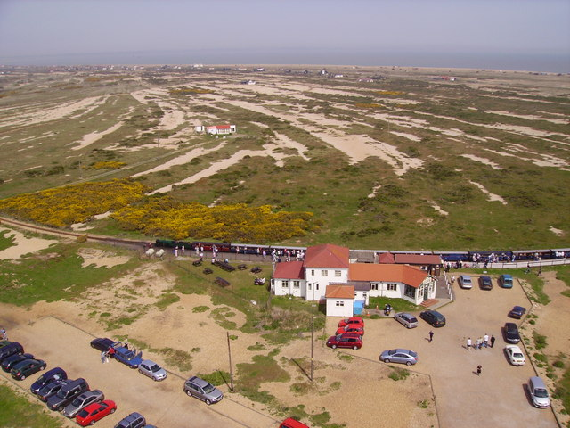 Dungeness station from the Old Lighthouse