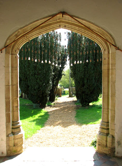 St Mary's church - view from the south porch