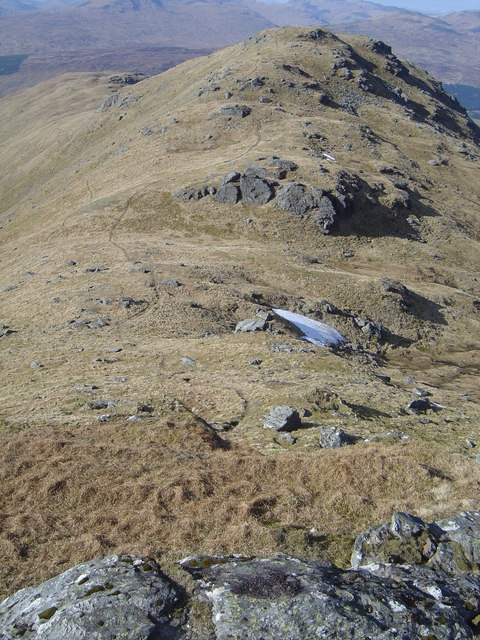 Stob Coire Bhuide from NNW ridge of Stob Garbh