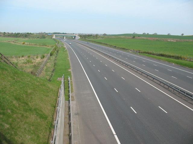 Railway Bridge over M6 Toll Motorway