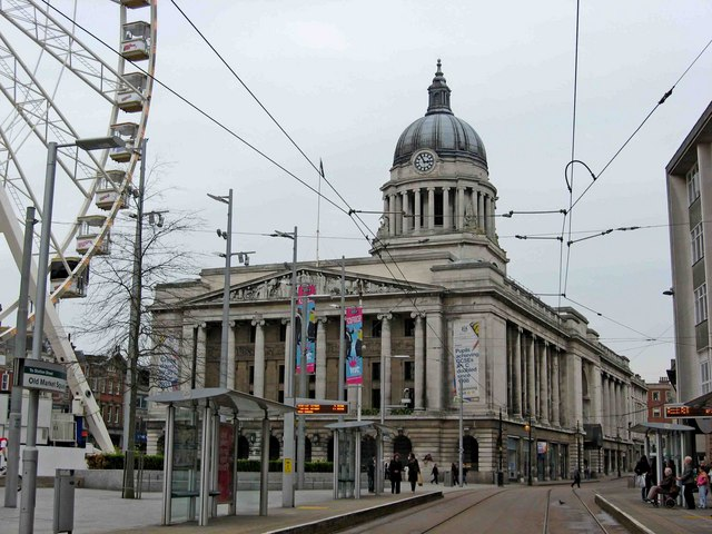 Nottingham Council House, Old Market Square by L S Wilson