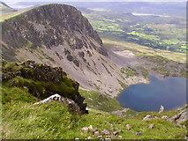 SH7013 : Llyn y Gadair from near the summit of Cadair Idris by Kenneth Yarham