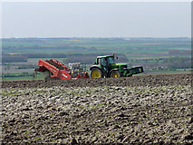 TA0114 : Preparing Potato Beds near Worlaby by David Wright