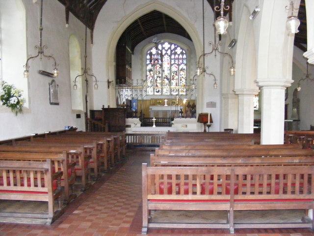 Inside St.Mary's Church, Kelsale