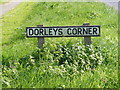 TM3865 : Dorleys Corner Sign by Adrian Cable