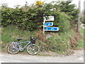S9626 : Sign for cycle route 1 at Killurin by David Hawgood