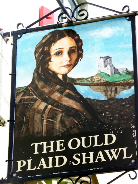 Sign for the Ould Plaid Shawl