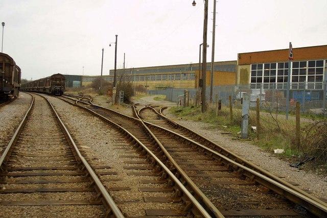 Railway sidings at BMW in Swindon