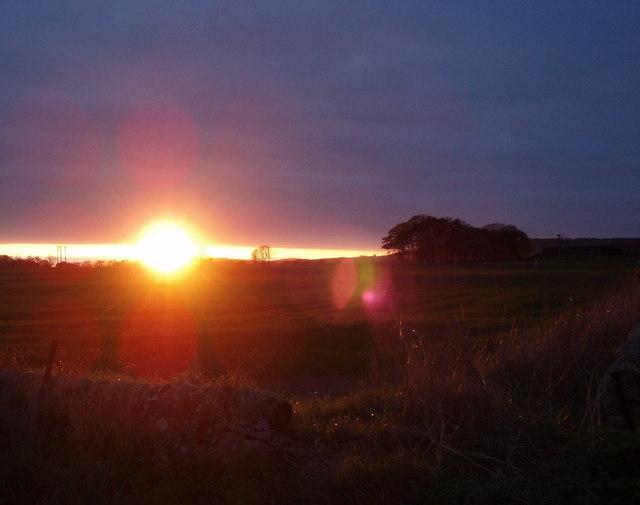 Sunset behind Pitskelly