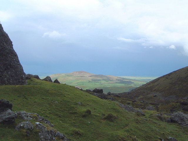 Boulder field at Lake Coumshingaun, Comeragh Mountains, Co. Waterford (with views to Croughaun Hill)
