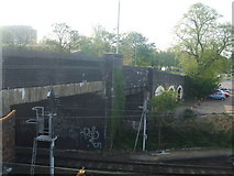 TG2407 : Bridge over the railway lines by Ashley Dace