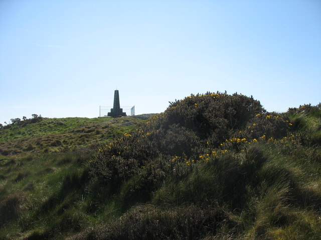 Monument on the summit of Mynydd y Garn