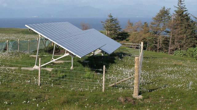 Eigg Electric - PV Panel