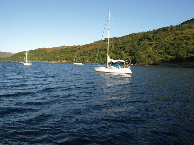 Yachts in Loch na Droma Buidhe