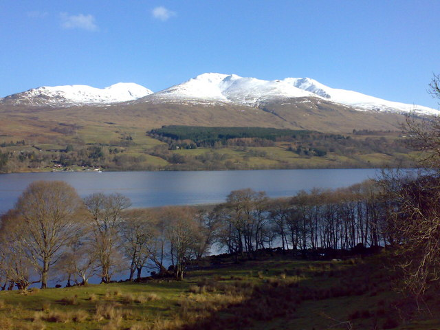 Loch Tay, Ben Ghlas & Ben Lawers from Cloichran, South Loch Tayside