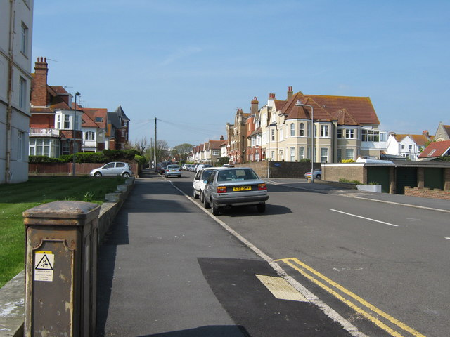 Dorset Road South seen from the sea front