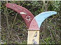 SJ8890 : National Cycle Route Milepost detail by Gerald England
