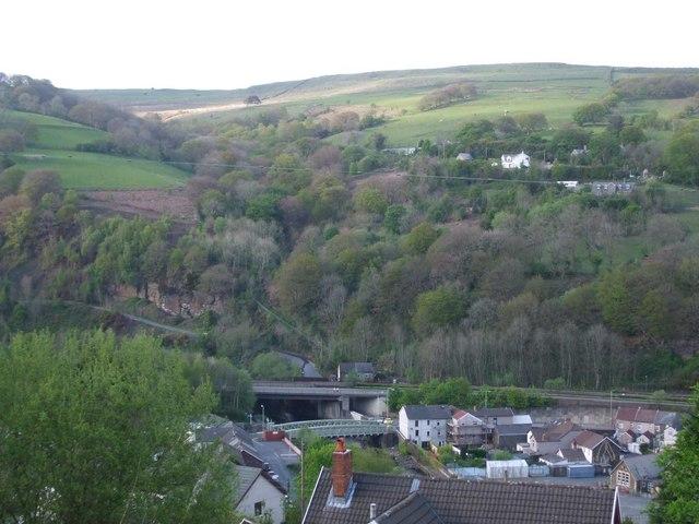Two bridges over the Rhondda