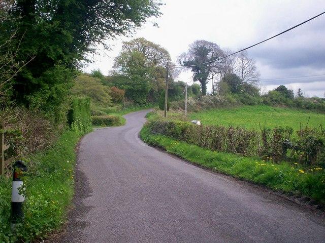 Road past Felin Cwrt, Login