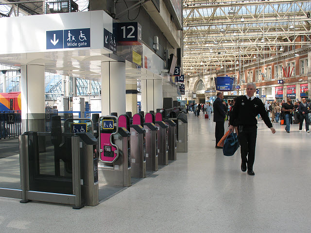 New ticket barriers at Waterloo