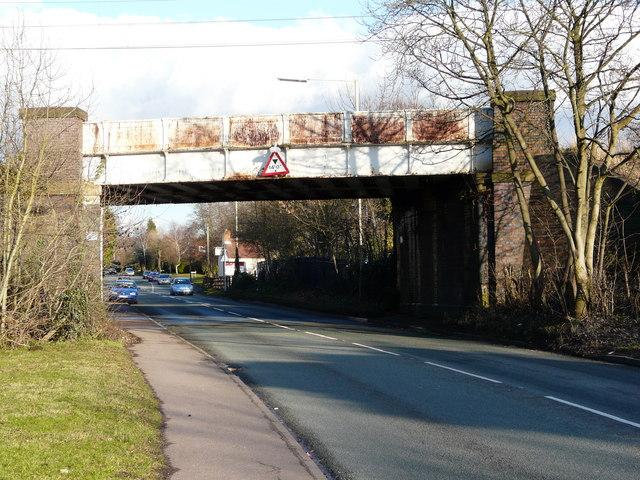 Railway bridge over Blake Street, Little Aston