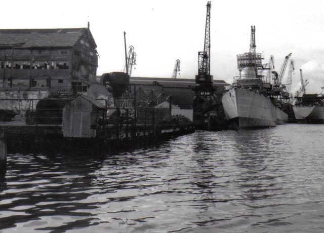 Neptune Yard, River Tyne, Walker 1976