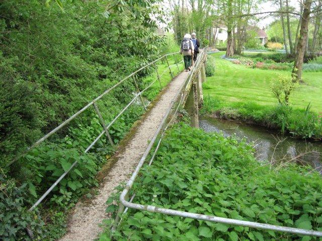 Footbridge over Garden