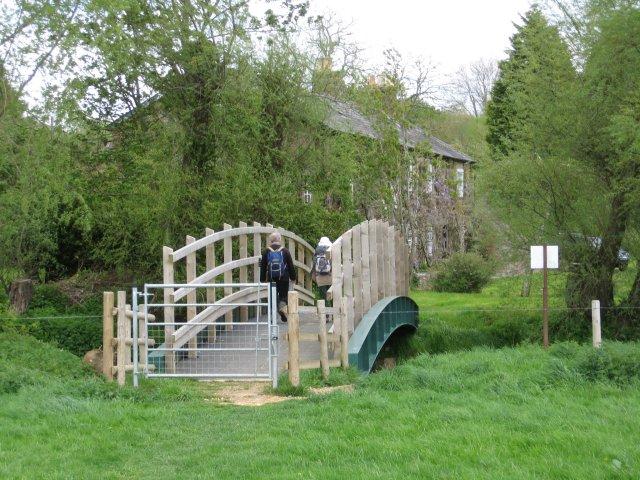 Footbridge near Keynston Mill