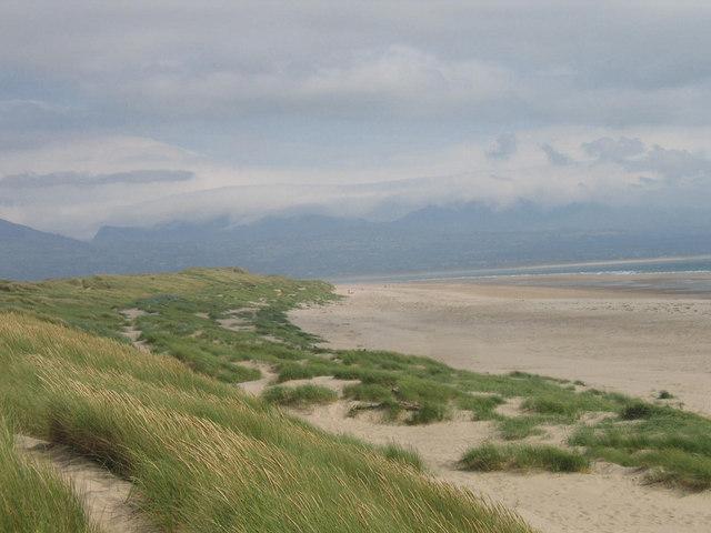 The dunes at Newborough Warren, Anglesey.