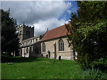 SP2160 : Churchyard of St James the Great, Snitterfield by Tim Heaton