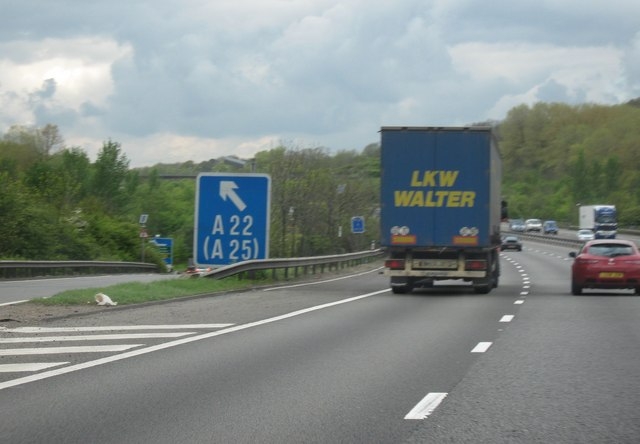 M25 Motorway, Westbound, Junction 6 For... © Roy Hughes :: Geograph Britain and Ireland