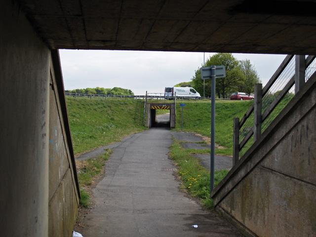 Footpath through Greystones Roundabout