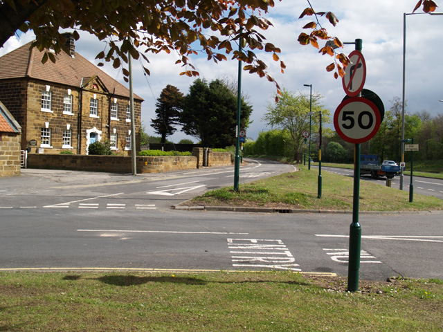 Road junctions at Lazenby