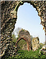TG3006 : The ruins of St Saviour's church - view west by Evelyn Simak