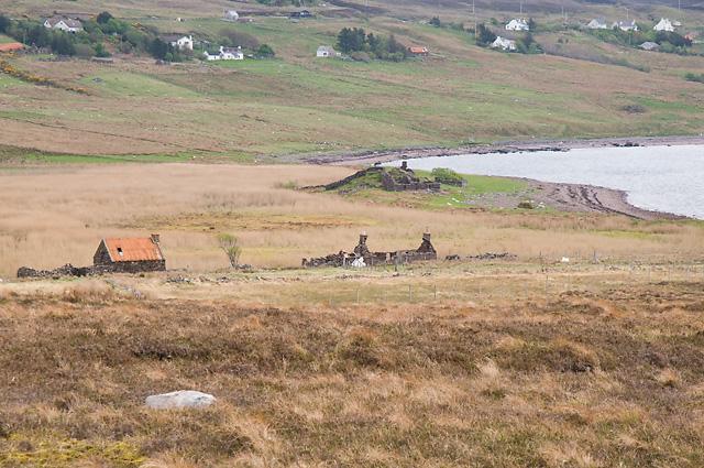 Ruined Crofts and Broch at Loch Poll an Dunain