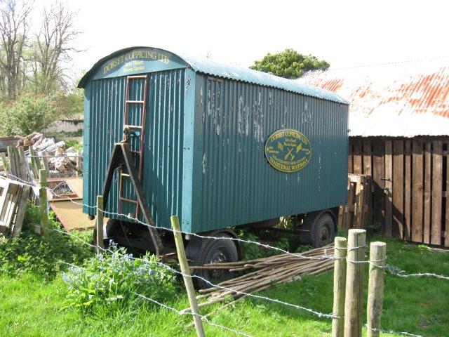 Old trailer near Spetisbury